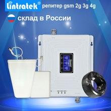 Lintratek lcd ekran 2G 3G 4G Tri Band sinyal tekrarlayıcı GSM 900 1800 3G UMTS 2100 4G LTE 1800 cep telefonu sinyal güçlendirici amplifikatörü.