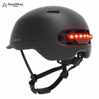 Scooter elétrico capacete de segurança com luz advertência para xiaomi m365 pro scooter skate ninebot es1 e2 mijia m365 scooter peças