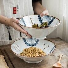 Cubertería de cerámica de KINGLANG para el hogar, cuencos de arroz, platos de pescado al vapor, platos de porcelana, platos de cena azules