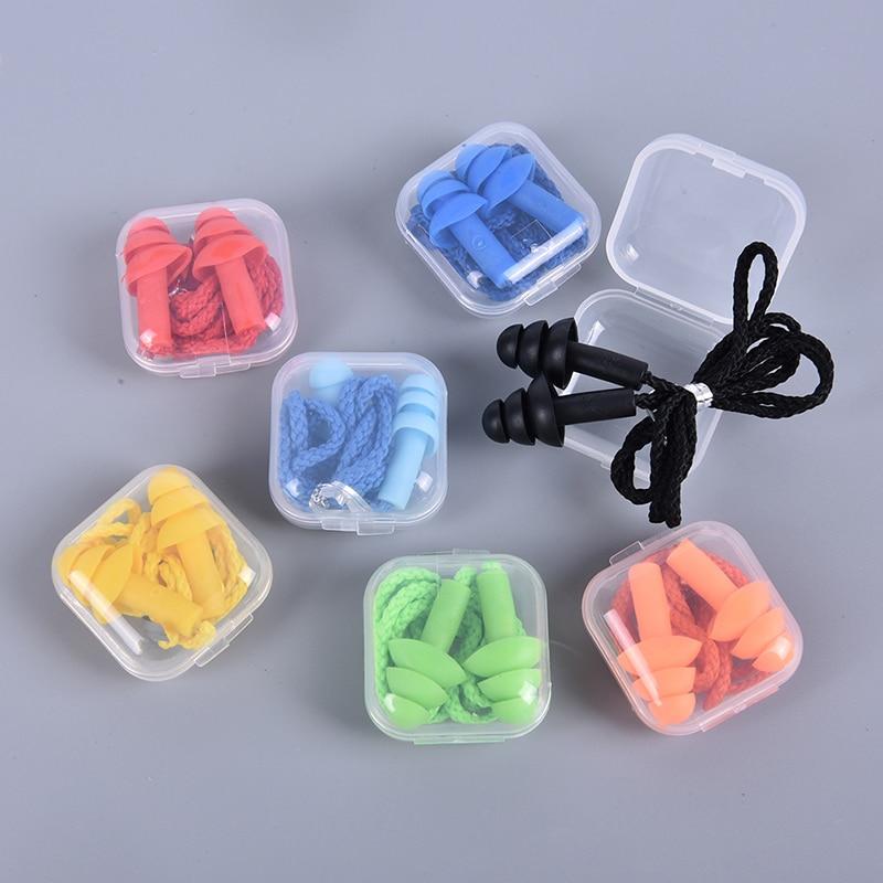 1 коробка, новые удобные силиконовые беруши с шумоподавлением, мягкие беруши для плавания, силиконовые беруши, защитные беруши для сна