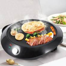 110V/220V 1000W Black Pancake&Crepe Maker Pan Electric Pancake Griddle Machine Kitchen Cooking Appliance(China)