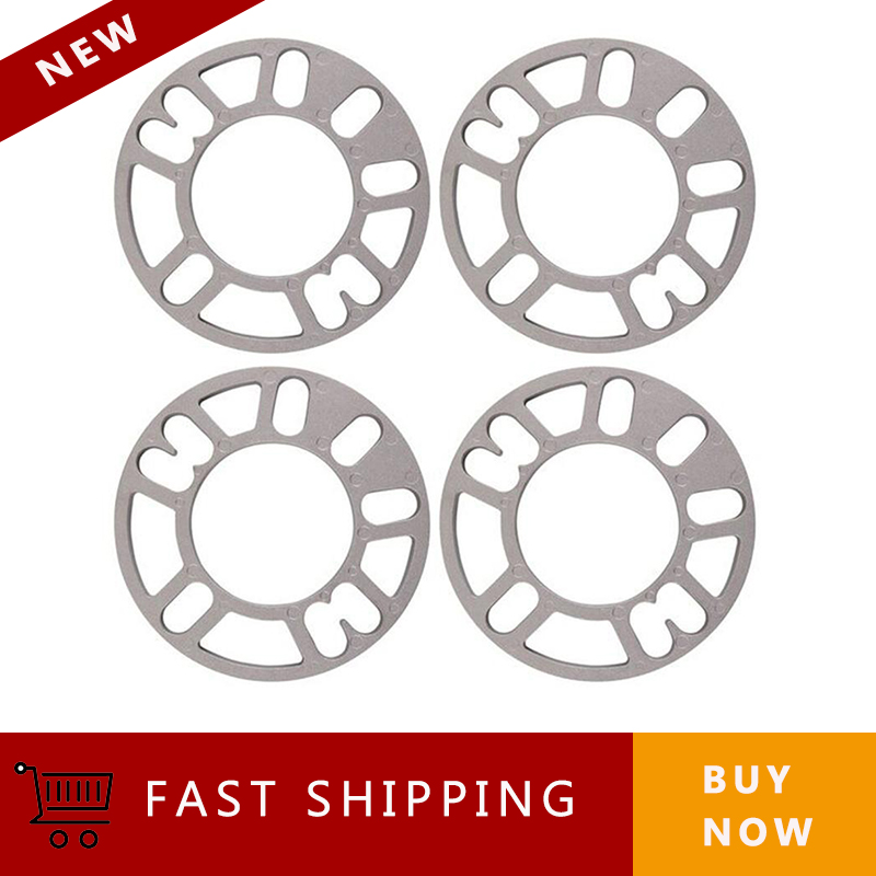 4Pcs Wheel Spacers Shims Plate 3mm 5mm 8mm 10mm Stud For 4x100 4x114.3 5x100 5x108 5x114.3 5x120 Car Wheel Spacers(China)