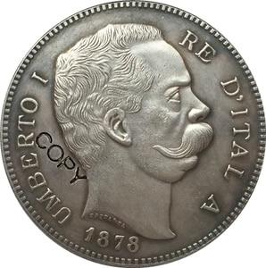 1878 Italy 5 Lire coins copy(China)