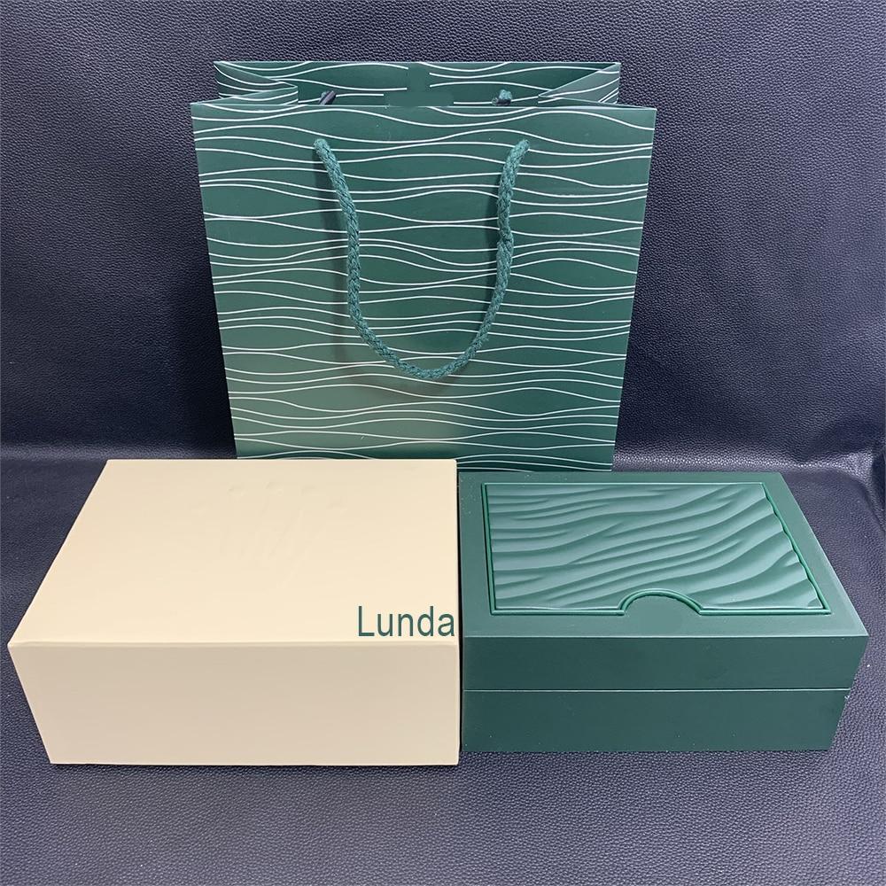 Зеленые часы оригинальная коробка бумажные карточки деревянные