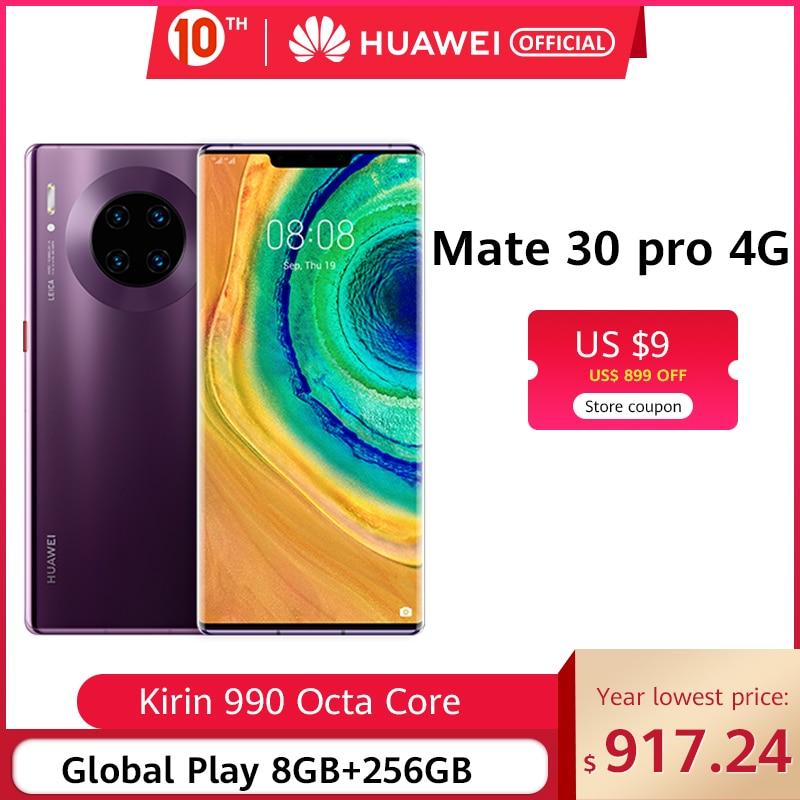 Original huawei mate 30 pro 8 gb 128 gb 256 gb smartphone 40mp triplo câmeras 32mp câmera frontal 6.53 screen kirtela kirin 990 mate30 pro Usar cupom de código Ali15 ($99-$15) Ali4 ($29-$4)