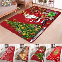 Alfombrilla navideña antideslizante para el suelo de Santa Claus, alfombra suave para dormitorio, cocina, comedor, chimenea, alfombra duradera para decoración del hogar de Navidad