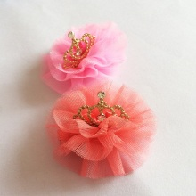 1Pcs/lot High Quality Girls Tiaras Kids Accessories Rhinestone Lovely Princess Crown Hairpin Children Voile Accesseries