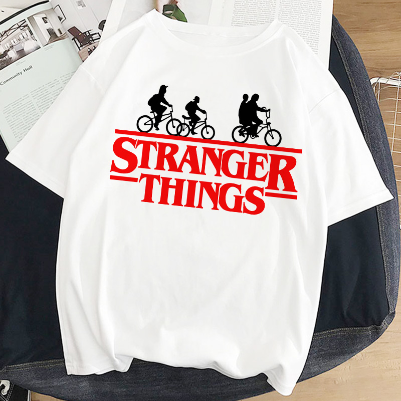Stranger Things T Shirt Women Eleven Summer Casual Top Tee T-shirt Female Femme Clothing Harajuku Funny Movie Shirt White Tshirt