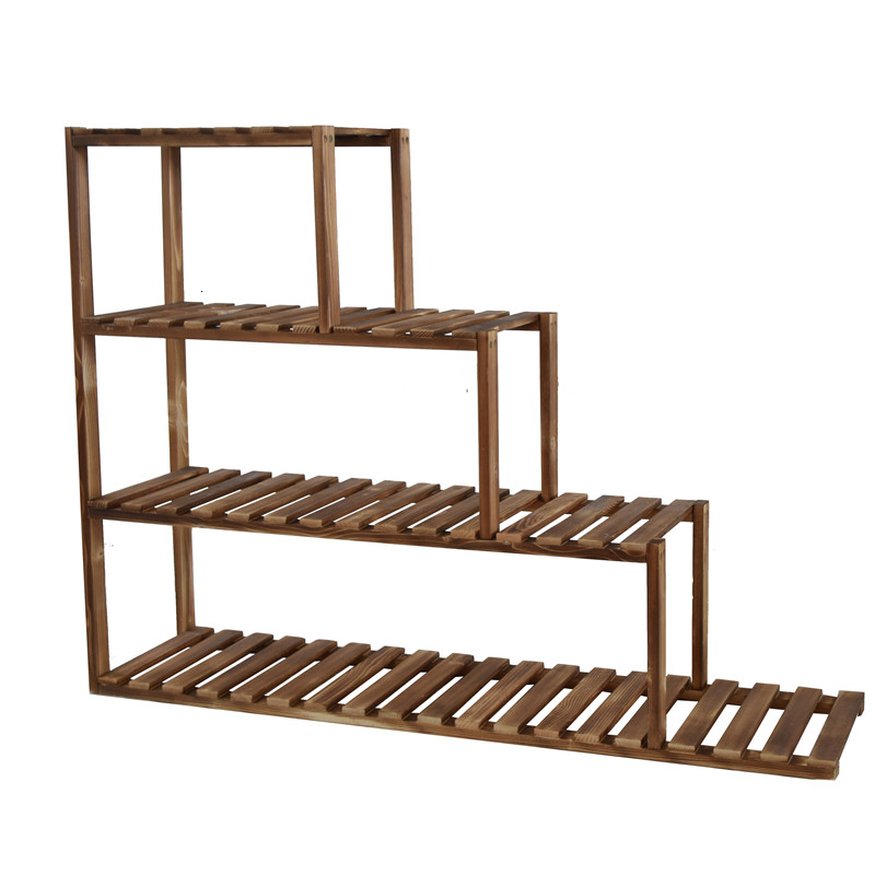 Solid Wood Multi-storey Balcony A Living Room Indoor Flowerpot Ladder Fleshy Windows And Meat Shelves Landing Type Shelf