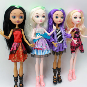 Image 2 - 4 pcs/Set Dolls Ever After Doll Fashion Monster Doll High Quality Moving joint For BJD dolls reborn baby toys gift for girl