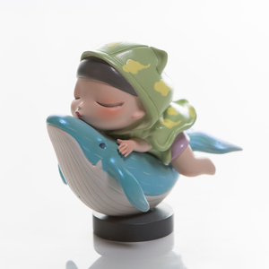 Kemelife dream of fairy tale lite song of the ocean riding whale girl birthday gife decoration action figure toy KEMElife