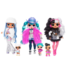 Original lol surprise doll winter disco omg baby face oversized sister DIY toy children play house gift doll accessories toys(China)