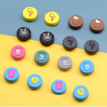 4 adet yaratıcı tema Thumb çubuk kavrama Cap Joystick kapak nintendo anahtarı Lite NS Joy Con denetleyici Gamepad thumbstick kılıf