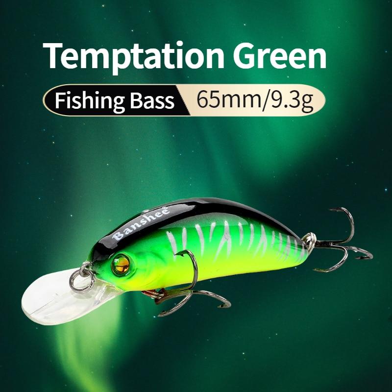 Banshee 65mm 9.3g GO-CM003 Trout Perch Fishing Lure Floating Wobbler Artificial Bait Shallow Diving Crank Minnow Crankbaits