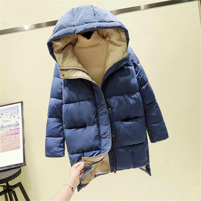 2021 겨울 여성 자 켓 긴 후드 코 튼 패딩 된 여성 코트 높은 품질 따뜻한 Outwear 여자 파 카 Manteau Femme Hiver P787