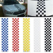 الشطرنج رياضي سيارة التصميم هود سيارة عاكسة الشارات ملصق ديكور الذاتي لاصق مقاومة للماء PET اكسسوارات السيارات