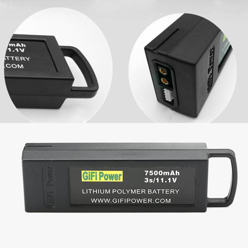 7500mAh 11.1V 3S Flight Lipo Battery Large Capacity Drone Backup Battery For Yuneec Q500 4K For Typhoon RC Drone