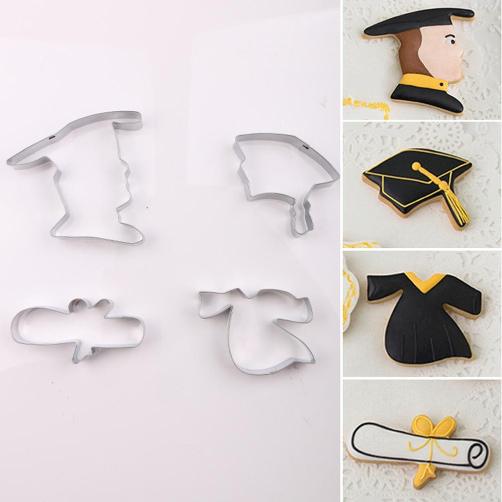 Awesome Academic Dress Hat Diploma Shape Party Birthday Cake Cookie Mold Funny Birthday Cards Online Hendilapandamsfinfo
