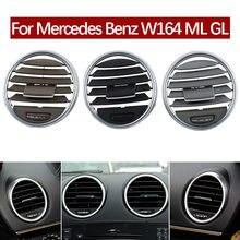 Z przodu samochodu desce rozdzielczej klimatyzacja Ac kratka wentylacyjna Panel obudowa do Mercedes Benz W164 M ML GL 300 350 450 500 2005-2011