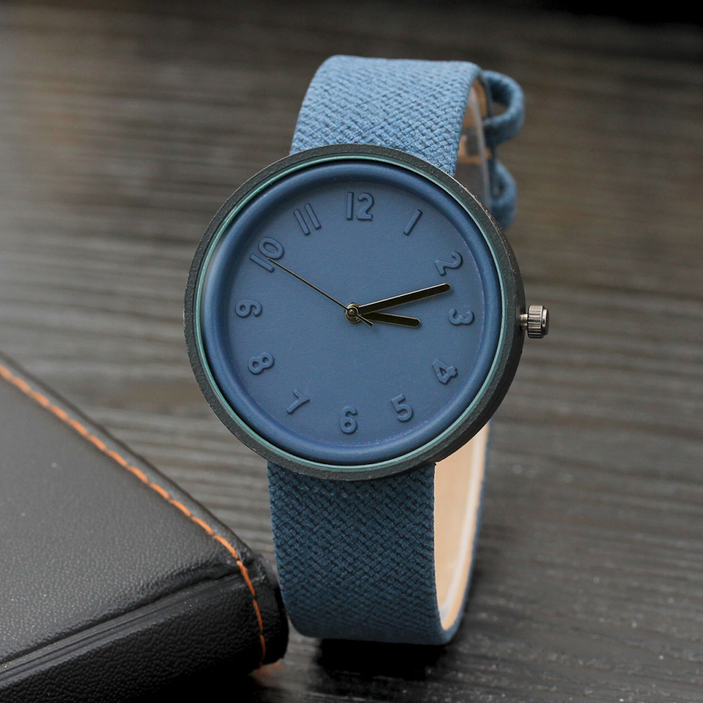 Man Watches Simple Fashion Number Quartz Canvas Belt Wrist Watch reloj masculino montre homme 2019 luxe de marque horloge man
