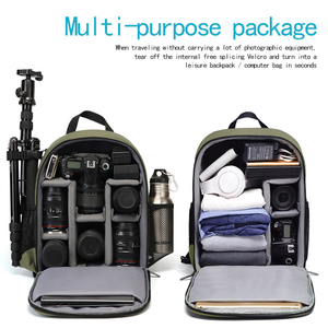 Image 3 - CADeN Camera Backpack Multi Functional Digital DSLR Camera Bag Waterproof  Bag Outdoor Camera Photo Case for Nikon Canon Sony