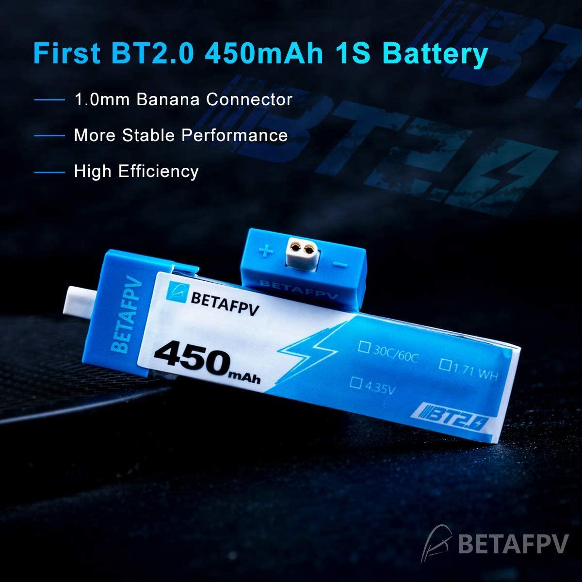 BETAFPV 1S 4.35V HV 450mAh 30C BT2.0