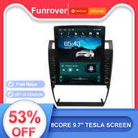 Funrover 9.7 Tesla dello schermo di Android 9.0 car multimedia autoradio Lettore radio gps navi Per Audi A6 S6 RS6 1997 -2004 rds BT no dvd