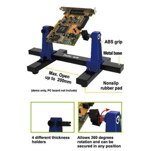 Image 3 - SN 390 360 Graus Ajustável Titular PCB Placa de Circuito Impresso de Solda Titular Grampos de Montagem