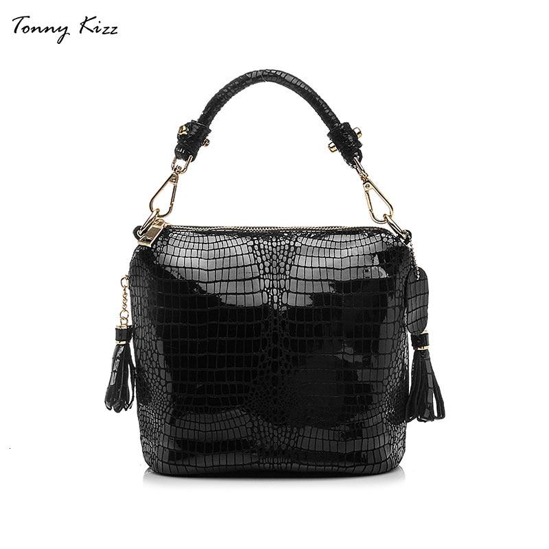 Tonny Kizz genuine leather luxury handbags women bags designer shoulder messenger bags alligator printing crossbody bags hot