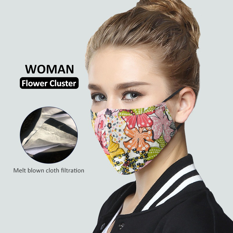 Black Reusable Face Mask For Outdoor Running PM2.5 Anti Haze Dust Mask 100% Cotton Protective Mouth Mask For Men Women