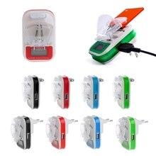 Универсальное зарядное устройство USB, ЖК экран индикатора, вилка стандарта ЕС/США для сотовых телефонов