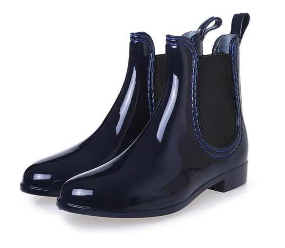 2019 Yeni lastik çizmeler Kadınlar için PVC Ayak Bileği yağmur çizmeleri Su Geçirmez Moda Jöle Kadın Önyükleme Elastik Bant Yağmurlu Ayakkabı Kadın