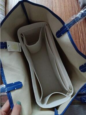 For GOYARDLY Felt Insert Bag Organizer Makeup Handbag Organizer Travel Inner Portable Cosmetic Original Organize Bags New