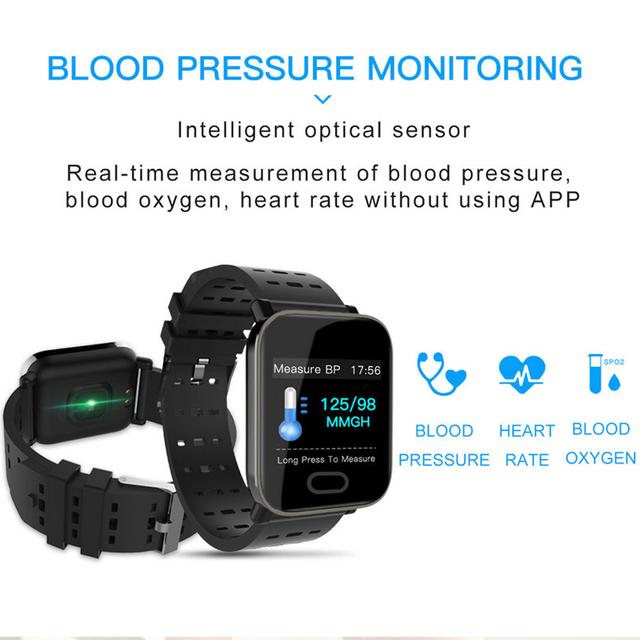 Reloj unisex deporte banda inteligente rastreador de Fitness podómetro sangre presión cardíaca sangre oxy Monitor Smartband pulsera