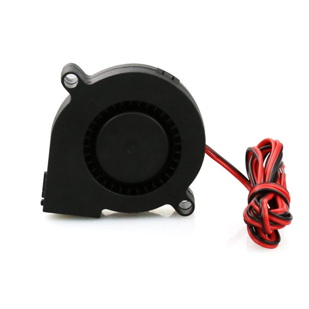 Anet A8 A6 5015 Air Blower 12V 24V Ultra-quiet Oil Bearing About 7500 RPM Turbo Small Fan For 3D Printer