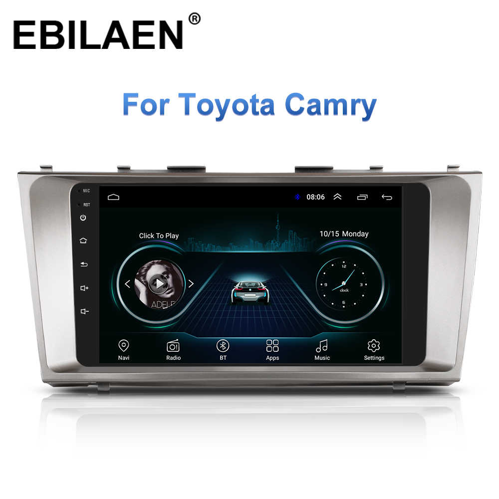 Mobil Radio Multimedia Player untuk Toyota Camry 40 2006-2011 Auto Radio 2Din Android 8.1 Gps Navigasi Tape Recorder Stereo