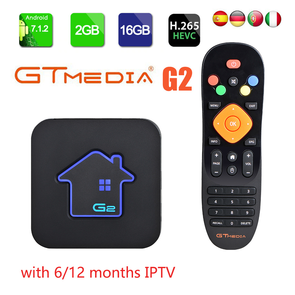 Original GTmedia G2 Smart Tv Box Android 7.1 4K HDR Quad Core 2G 16G WIFI Google Cast Netflix IPTV Set Top Box 4 Media Player