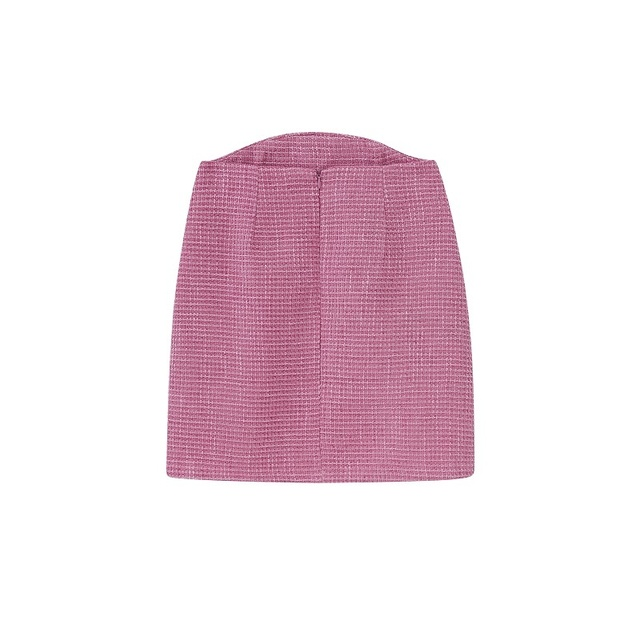 Toppies 2021 Fashion Short Tweed Jacket Short Blazer Woman Suit Set High Waist Mini Skirts Female Three Piece Set 6