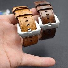 купить For Apple Watch Series 4 Vintage Genuine Leather Watch Band Strap 40/44mm 38/42mm Bracelet For Apple iWatch Series 3 2 Watchband по цене 1331.18 рублей