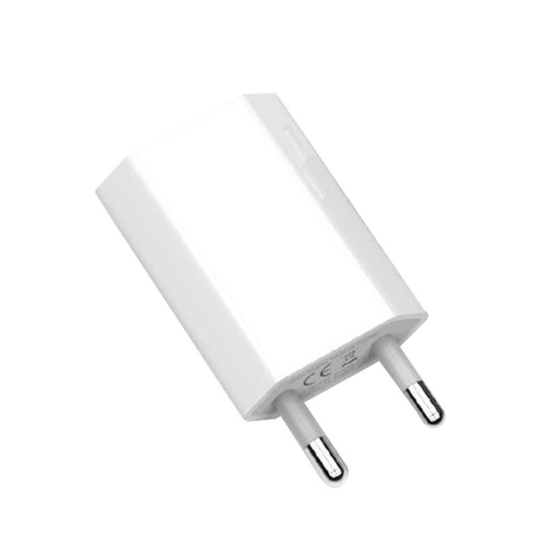 Nuevo Color blanco UE enchufe adaptador de corriente cargador USB cargador Universal de pared de teléfono 5A cabeza de carga sin Cable para IPhone Huawei