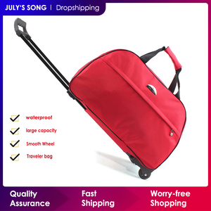Image 1 - JULYS SONG oxford Rolling Luggage Bag Travel Suitcase With Wheels Trolley Luggage For Men/Women Carry On Travel Bags