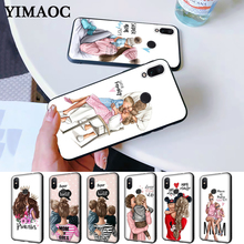 Mom and baby Special Offer Luxury Silicone Case for Redmi Note 4X 5 Pro 6 5A Prime 7 8