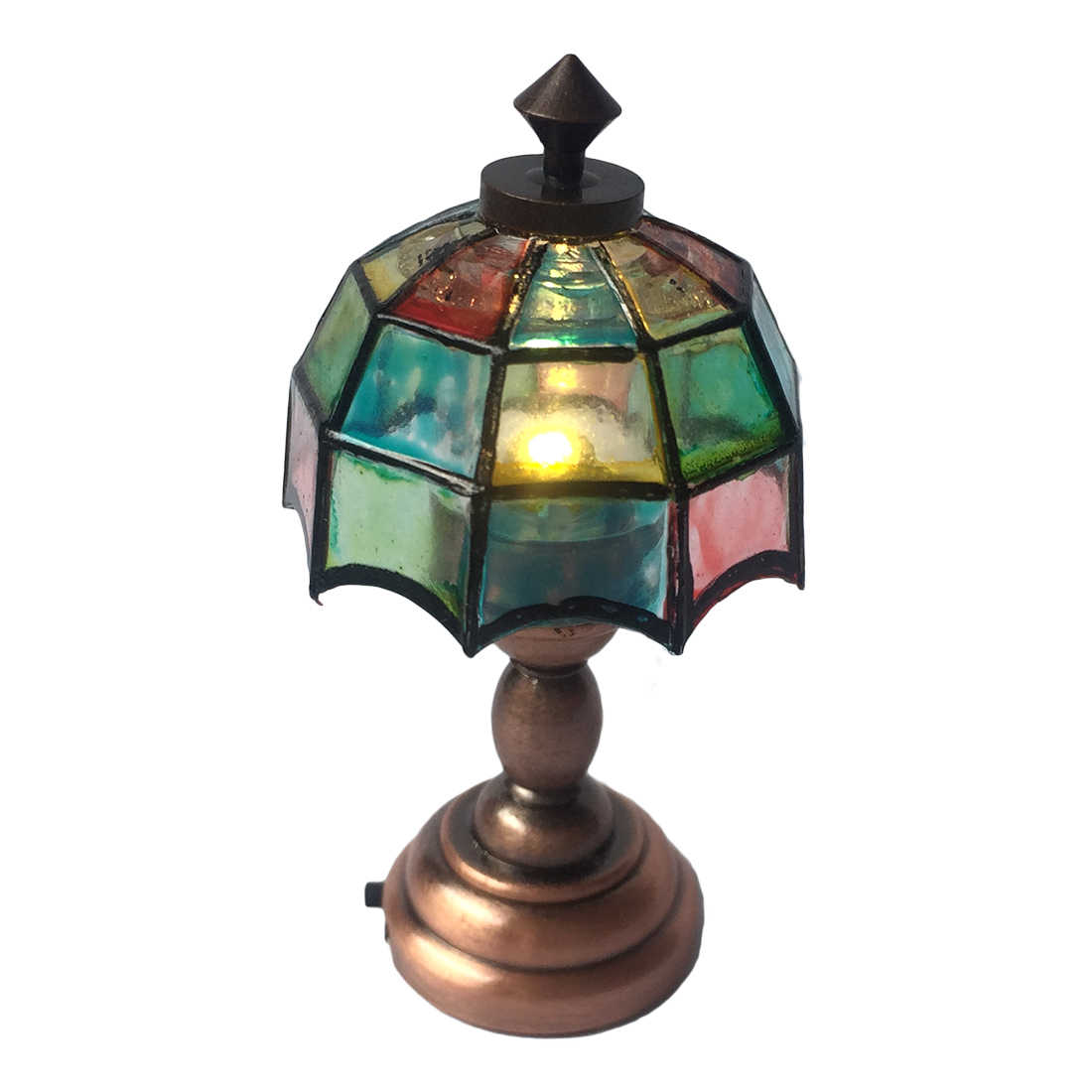 Pack of 2 1//12 Mini Table Lampshade Dollhouse Accs Vintage Style Bronze