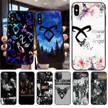 NBDRUICAI Shadowhunters Cover Black Soft Shell Phone Case for iPhone 11 pro XS MAX 8 7 6 6S Plus X 5S SE XR case nbdruicai american tv series shadowhunters black soft shell phone case for iphone 11 pro xs max 8 7 6 6s plus x 5s se xr case