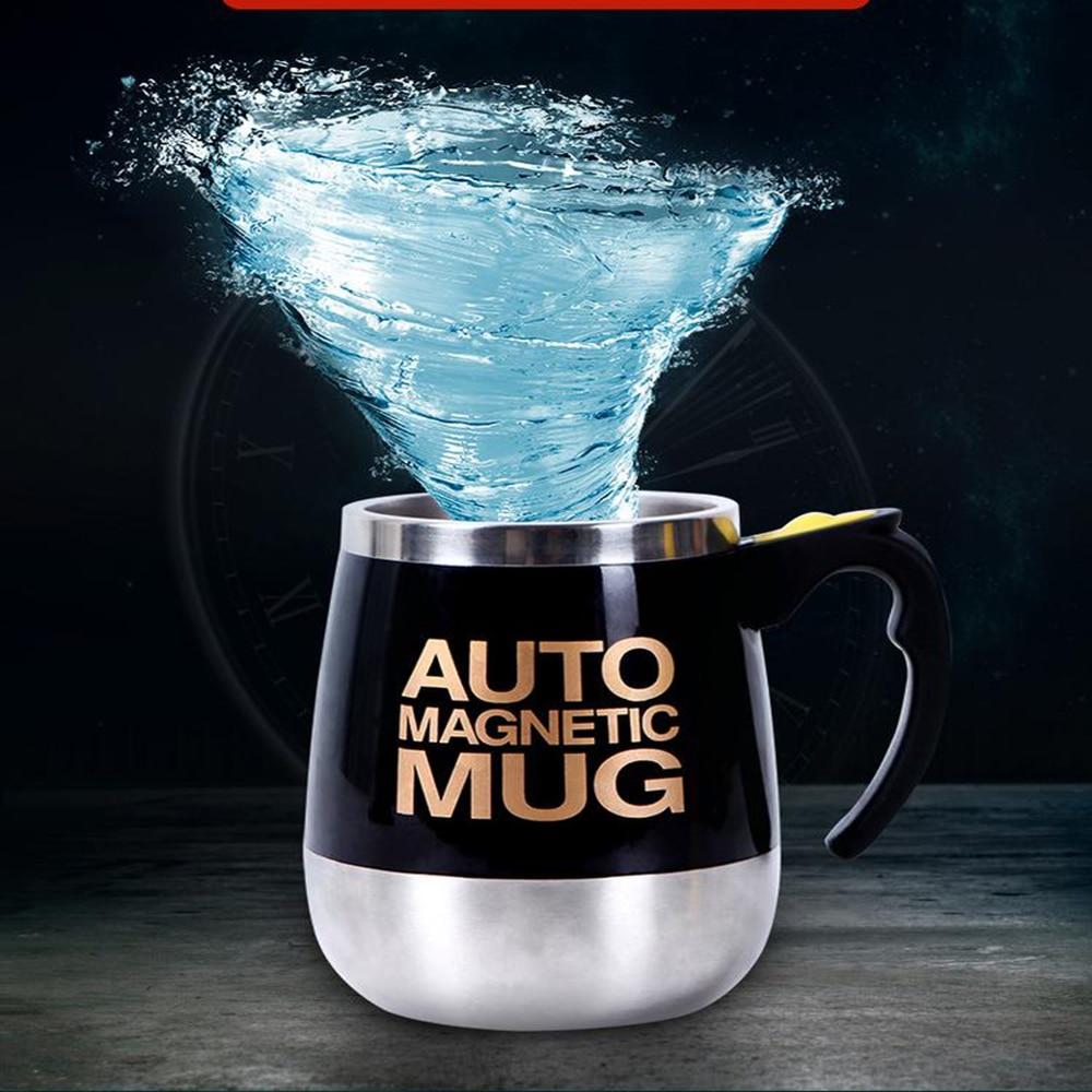 Self Stirring Mug Auto Mixing Stainless Steel Cup for Bulletproof/Keto Coffee/Tea/Hot Chocolate/Milk/Cocoa Protein Shaker Mug
