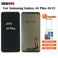 삼성 J4 + J415 SM J415F J415G J415FN LCD 디스플레이 화면 교체 갤럭시 J4 플러스 2018 LCD 화면 휴대폰 LCD    -