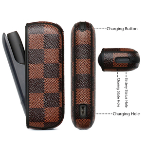 Image 5 - Koruyucu kılıf iqos için 3.0 kare iş terbiyeli zarif parmak geçirmez çanta elektronik sigara kırmızı indigo beyaz kahverengi kutu