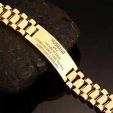 Vnox – montre Bracelet en acier inoxydable pour hommes, bijou de 20cm de long, multicolore, cadeau de mari Unique et significatif