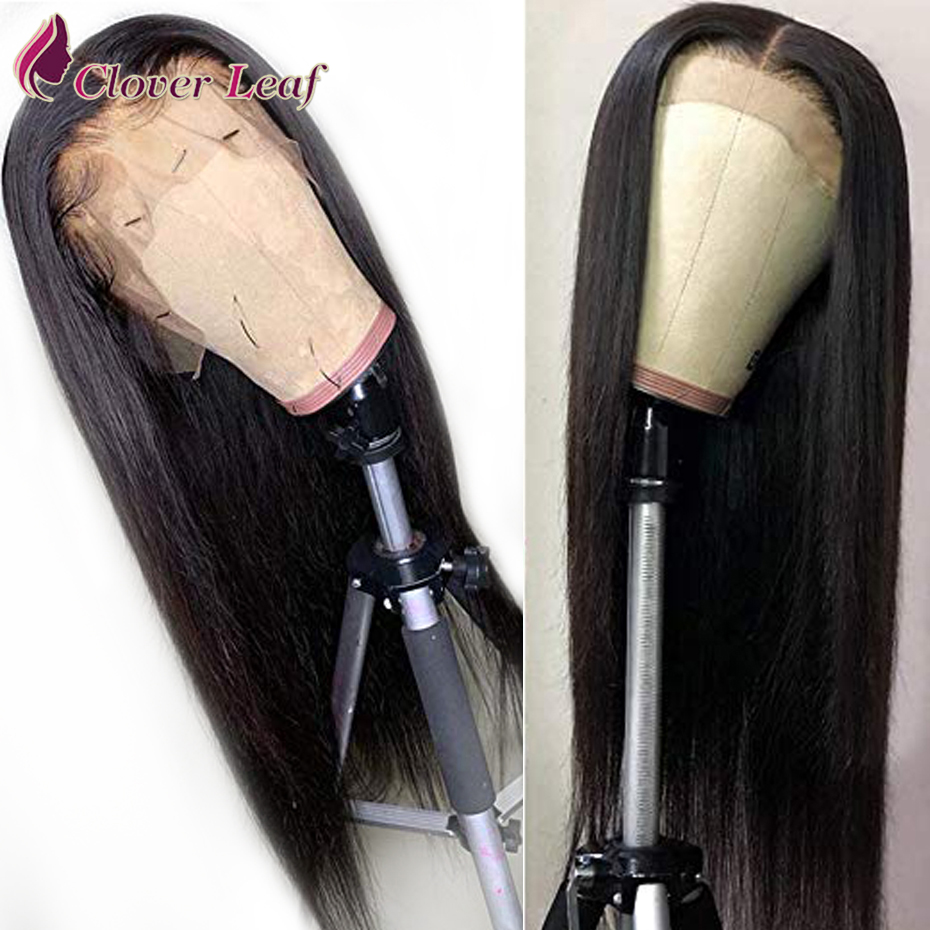 360 Lace Front Human Hair Wigs 180% Density Brazilian Straight Bob Lace Frontal Wig For Women Remy Clover Leaf Hair