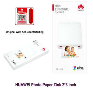 Photo-Paper Zink HUAWEI CV80 Mini Portable for with Anti-Counterfeiting 2--3inch Original